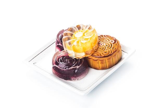 Mooncake, comida chinesa do festival de meados do outono.