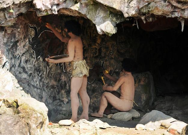 Moradores de cavernas do homo sapiens