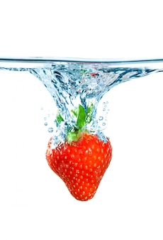 Morango e água