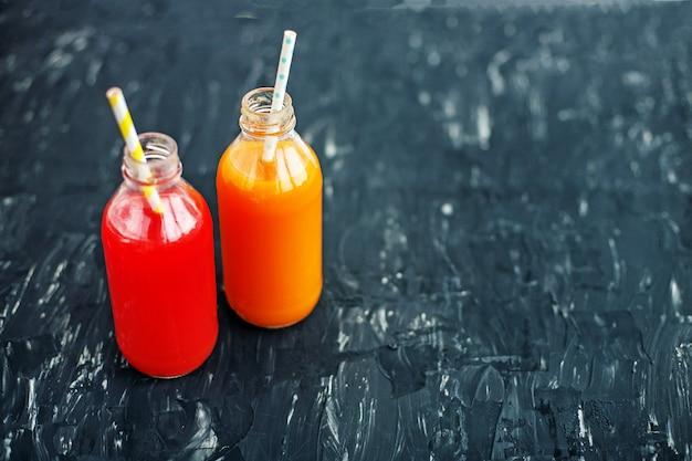 Morango e suco de laranja