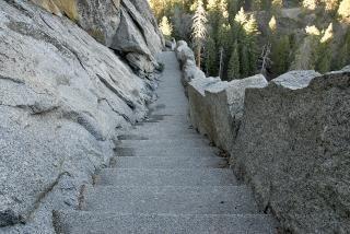 Morro escadas rock em sequoia pa nacional