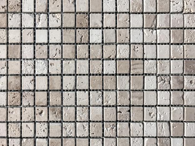 Mosaico de azulejos de pedra para decoração da casa de banho e piscina.