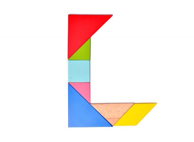 Mosaico de cor do alfabeto inglês Foto Premium