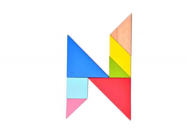 Mosaico de cor do alfabeto inglês