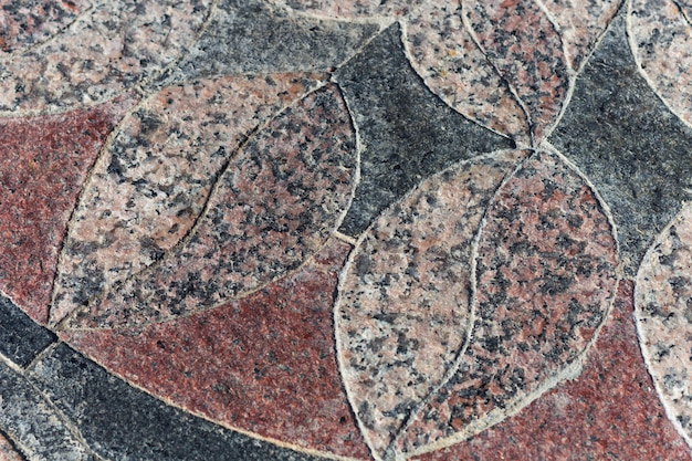 Mosaico de folha de granito marrom-preto elemento