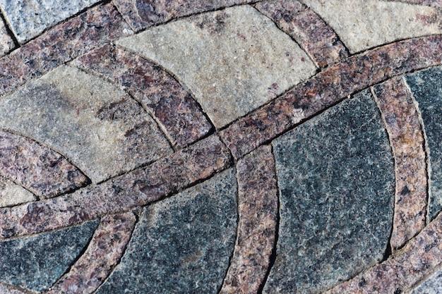 Mosaico de granito marrom-preto elemento