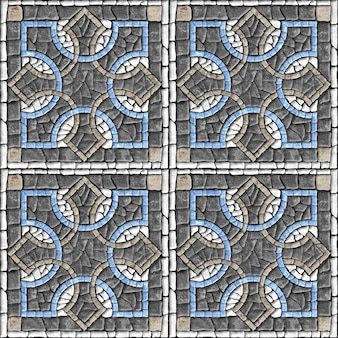 Mosaico de pedra. ladrilhos com textura de pedra natural. textura de fundo