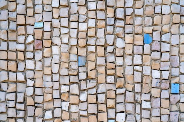 Mosaico decorativo de parede. fundo de pedra abstrato.