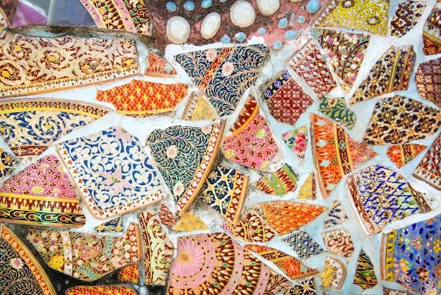 Mosaico fundo azulejos coloridos padrão abstrato telha piso e parede