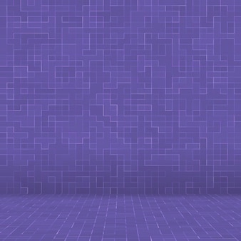 Mosaico quadrado roxo brilhante para fundo textural.