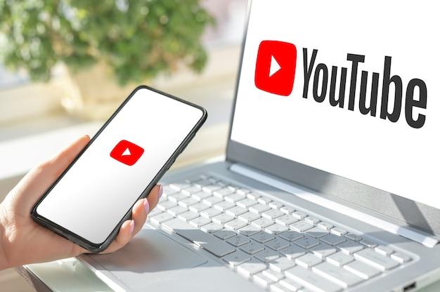 Moscou rússia 17 de agosto de 2021 youtube é o serviço de vídeo mais popular desenvolvido pelo google