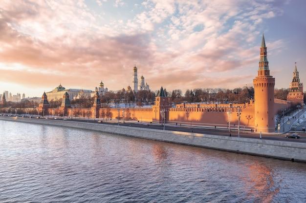Moscou rússia vista do kremlin de moscou