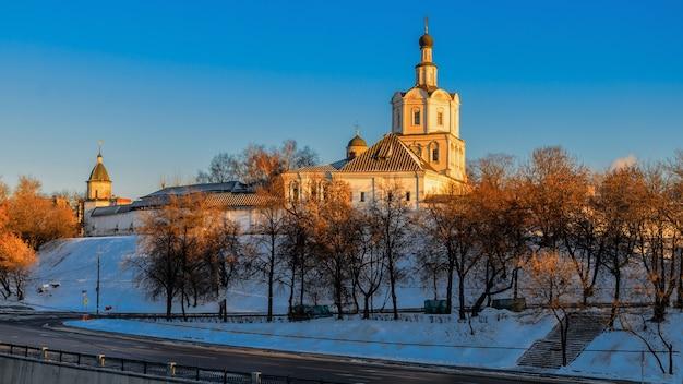 Mosteiro de andronikov do salvador spaso-andronikov monastyr, um antigo mosteiro em moscou, rússia.