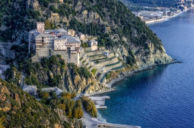 Mosteiro de dionysiou na grécia