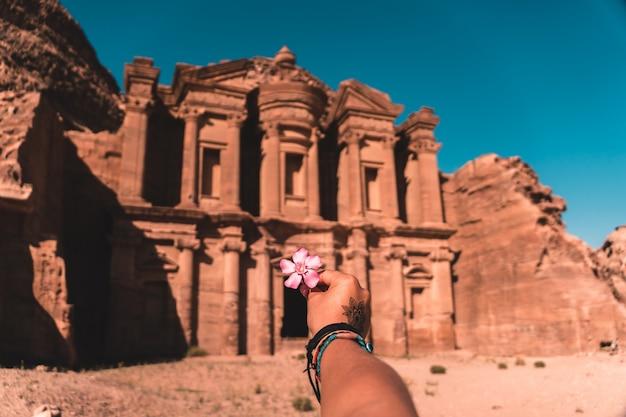 Mosteiro de petra, na jordânia