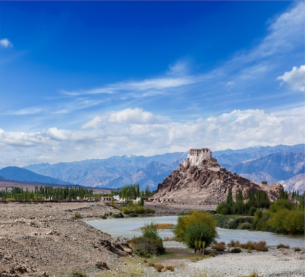 Mosteiro de stakna, ladakh, índia