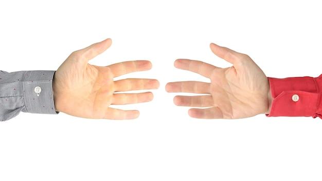 Mostrando os sinais dos dedos para expressar emoções