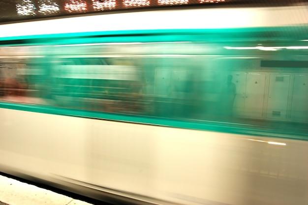 Motion blur subway