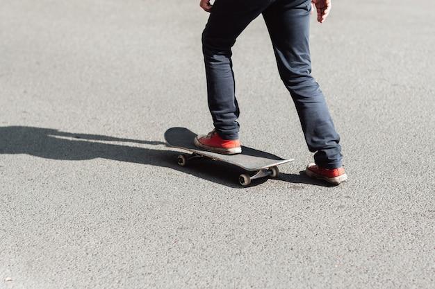 Motivação profissional do skate do esporte da velha escola.