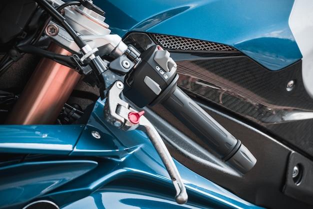 Moto esporte close-up