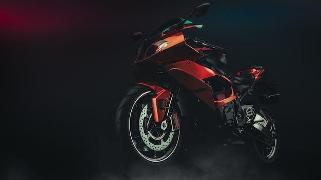 Motocicleta em estúdio