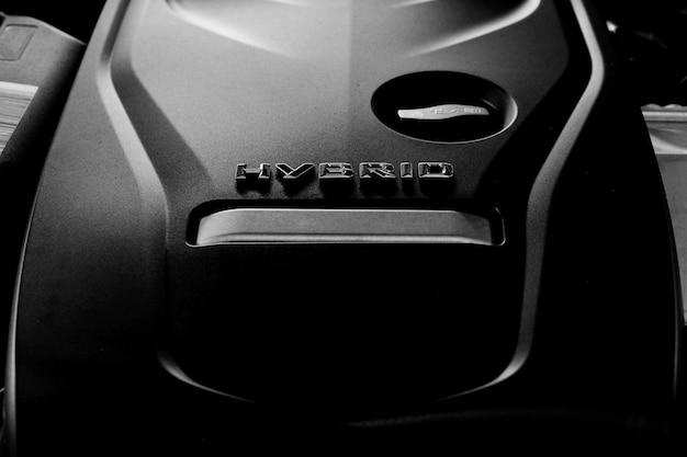 Motor de carro híbrido de plug-in de tecnologia moderna.