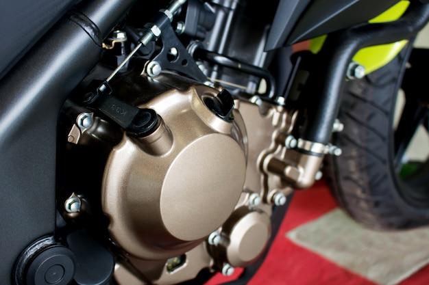 Motor de moto closeup de moto esporte (moto grande)