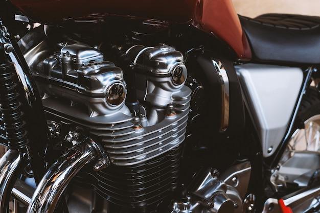 Motor de motocicleta closeup