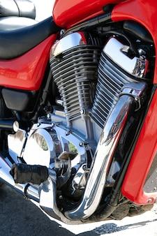 Motor e motor da motocicleta.
