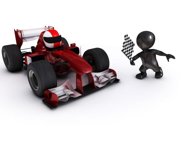 Motorista de terminar uma corrida