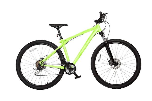 Mountain bike isolada no branco