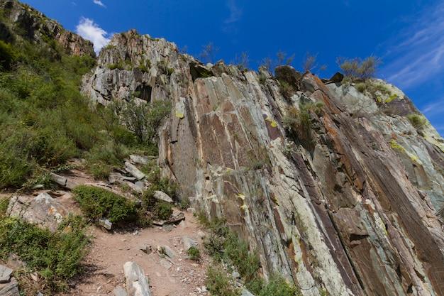Mountain rock vista inferior altai