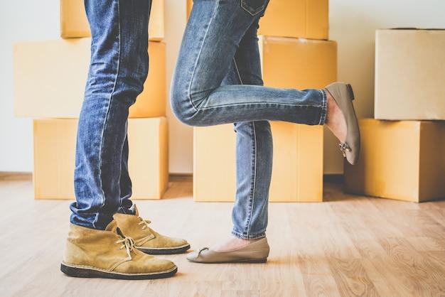 Mova-se em nova casa, começando uma nova vida juntos