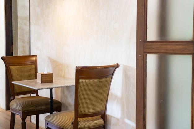 Móveis de café estilo miniaml
