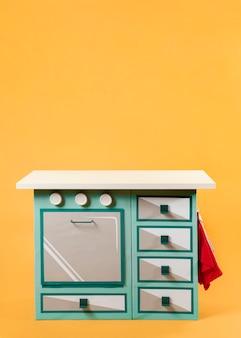 Móveis de cozinha pinup de vista frontal
