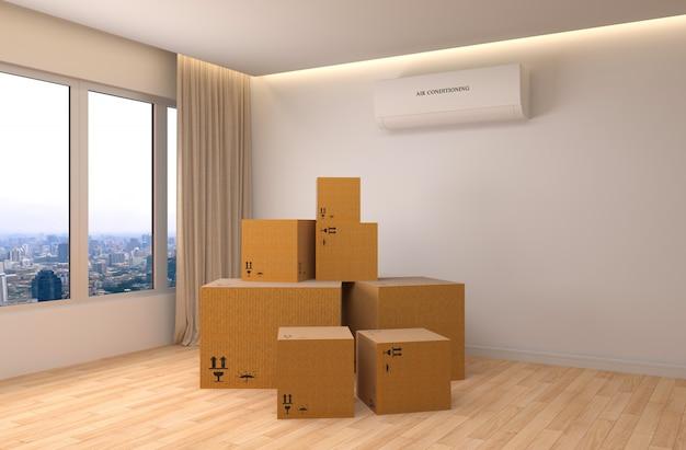 Movendo caixas em uma nova casa
