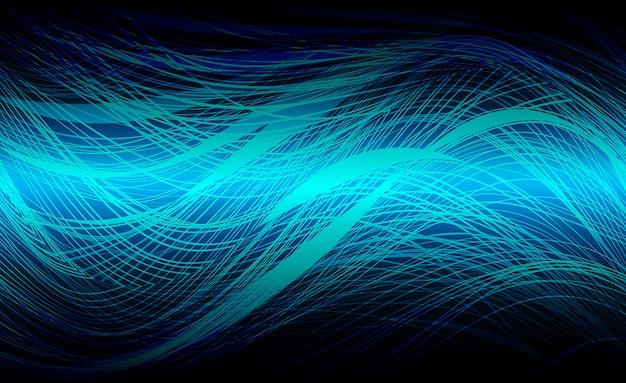 Mover movimento borrão curva cor azul escuro luz fundo abstrato da tecnologia