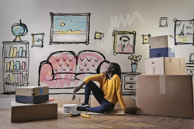 Mover-se para um novo apartamento