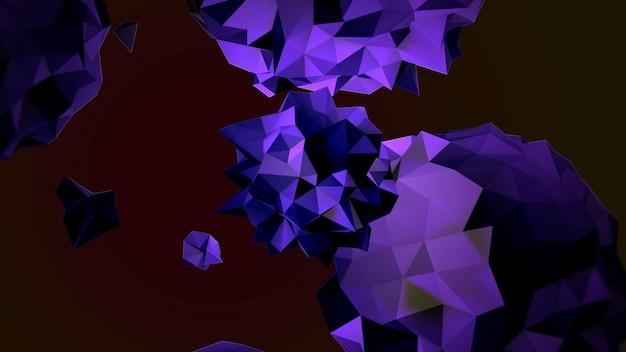 Movimento abstrato orbe líquido roxo no cosmos, fundo preto