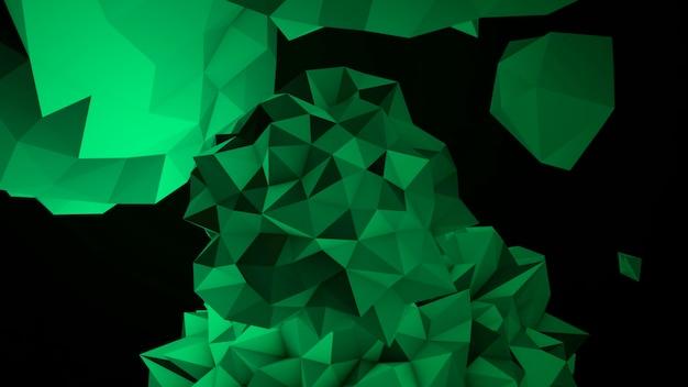 Movimento abstrato orbe líquido verde no cosmos, fundo preto. estilo de ilustração 3d elegante e luxuoso para modelo moderno e cosmos