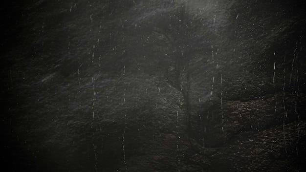 Movimento chove em fundo cinematográfico com textura grunge. ilustração 3d luxuosa e elegante do tema do cinema