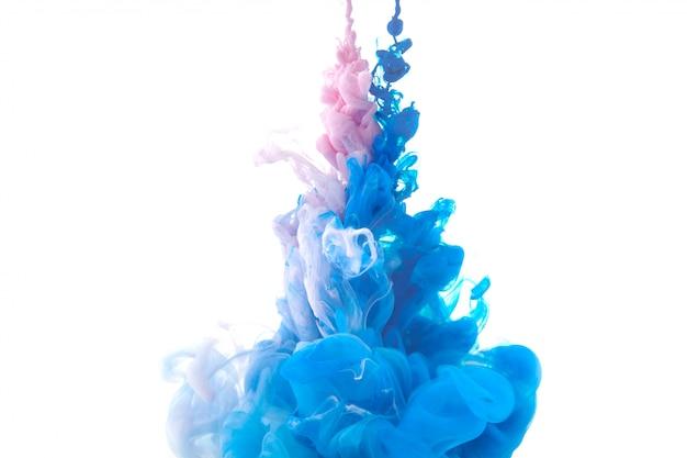 Movimento cor gota na água