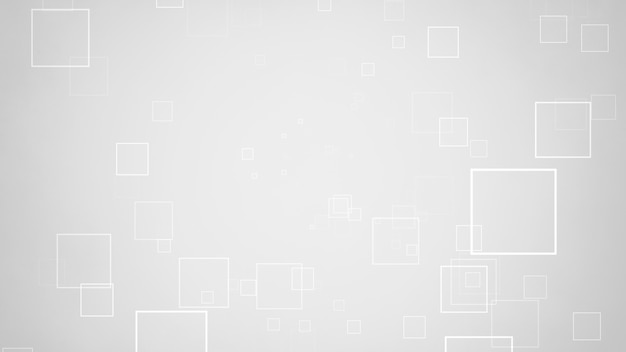 Movimento de quadrados brancos, fundo abstrato. estilo geométrico dinâmico elegante e luxuoso para negócios, ilustração 3d