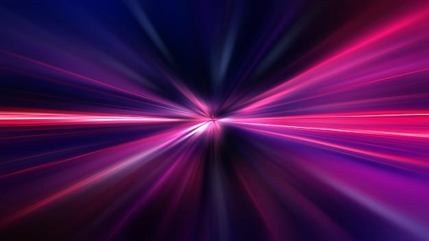Movimento de velocidade de aceleração em estrada noturna
