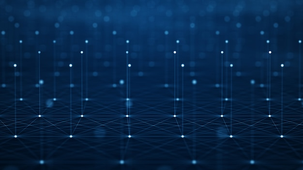Movimento do fluxo de dados digitais.