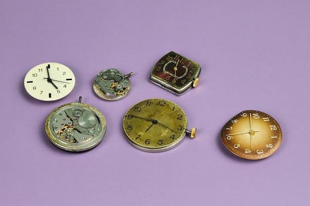 Movimento do relógio antigo