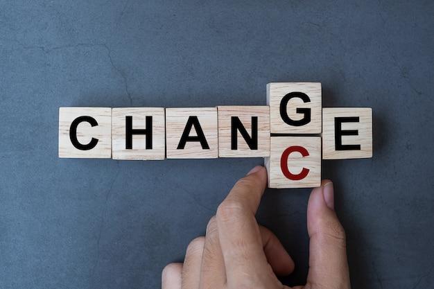 Mudança para chance palavra