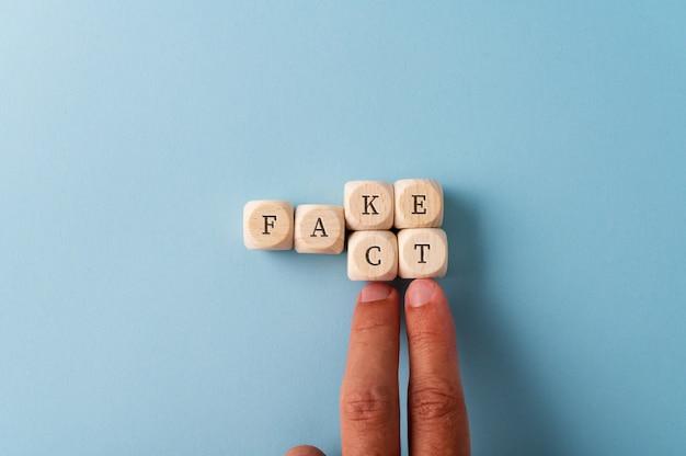 Mudando a palavra fake em fact