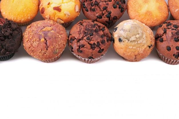 Muffin bolos topo linha de fronteira