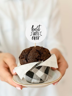 Muffin para evento do dia do chefe
